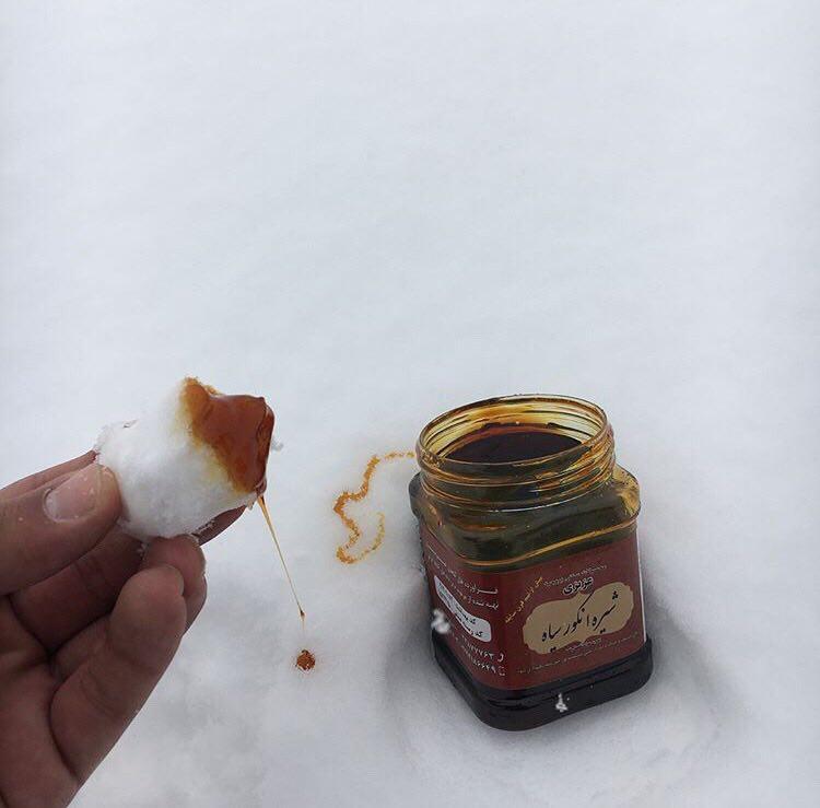 خوردن برف و شیره انگور به به ??